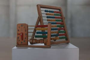 A wooden abacus from the collection of Michael Luria