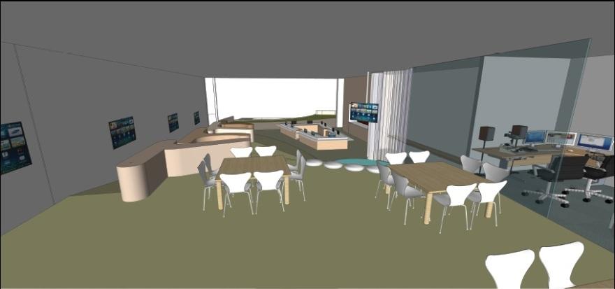 A digital kindergarten - illustration. Oded Halaf Architects